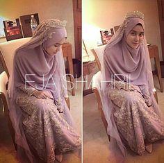 Dusty purple!! Islamic wedding concept by Ejashahril