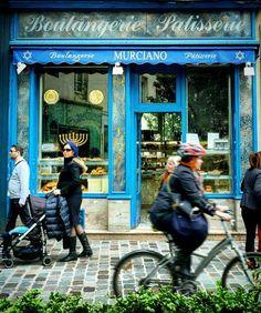 """""""Rue des Rosiers à Paris #france #paris #boulangerie #bakery #patisserie…"""