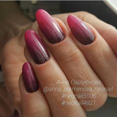 Bright ombre nails, Glitter nails, Ideas of gradient nails, Long nails, Obmre gel polish nails, Obmre nails, Ombre nails, Rihanna nails