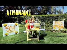ELLE'S FIRST LEMONADE STAND!!! (SHE EARNS REAL MONEY) - YouTube
