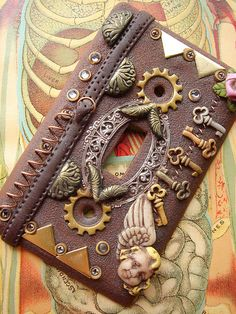 Steampunk light switch plate cover 2 by MarieSegal, via Flickr                                                                                                            Steampunk light switch plate cover 2             by        MarieSegal      on   ..