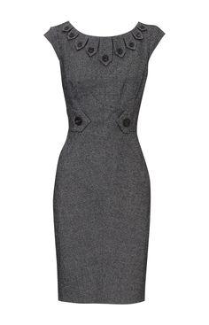 Karen Millen DK235 tweed dress