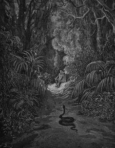 Satan as a Serpent Enters the Paradise by Gustave Doré.