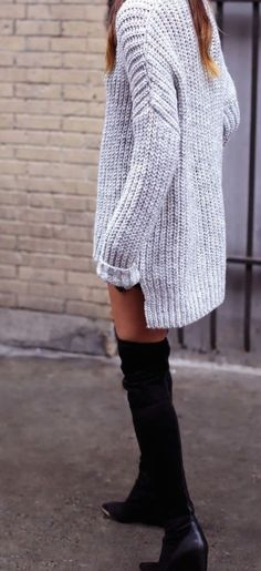 #fall #fashion / oversized knit