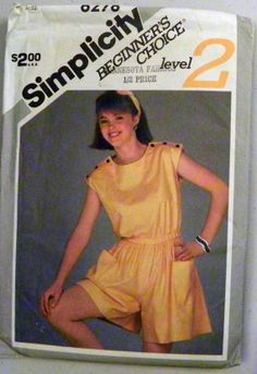 Simplicity 6278  Pullon Romper or Playsuit by retroactivefuture, $8.00