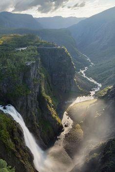 Wow! Der Wasserfall Vøringsfossen in Hordaland, Fjordnorwegen