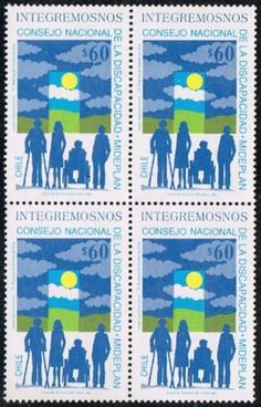 CHILE-1992-STAMP-1570-MNH-BLOCK-OF-FOUR-DISABLED-HANDICAPPED
