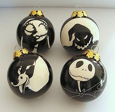 Nightmare Before Christmas Sally Stitches, Oogie Boogie, Zero, and Jack Skellington Ornaments. Halloween Trees, Halloween Christmas, Disney Christmas, Christmas Themes, Halloween Crafts, Halloween Decorations, Christmas Holidays, Christmas Crafts, Dark Christmas