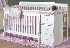 Our babies' crib (x2).  Good space saver.