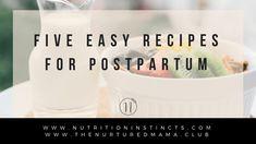 Postpartum nutrition. Five eating recipes during early postpartum. Paleo Pregnancy, Pregnancy Nutrition, Gluten Free Recipes For Kids, Paleo Kids, Lactation Recipes, Lactation Cookies, Breastfeeding Support, Breastfeeding And Pumping, Mom Milk