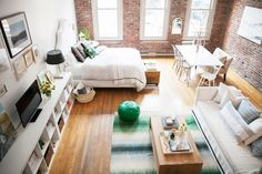 Cassandra Lavalle's Seattle Loft; studio layout