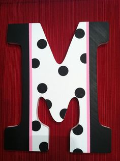 Painted Wooden Letter M