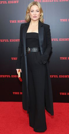 Kate Hudson wowed in black at the premiere of The Hateful Eight.