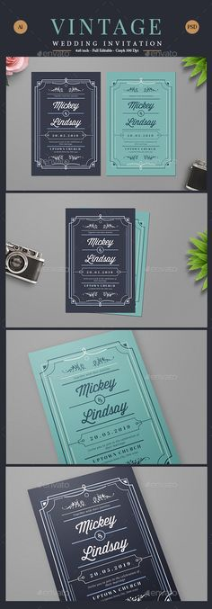 Vintage Wedding Card / Invitation Template PSD, AI Illustrator. Download here: http://graphicriver.net/item/vintage-wedding-cardinvitation/16510563?ref=ksioks