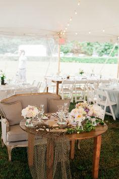 Coastal Wedding Inspired Seaside Sweetheart Table | Eileen Meny Photography on @StorybrdWedding via @aislesociety