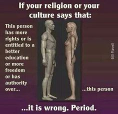 Religion & equal rights Anti Religion, Patriarchy, Equality, Christianity, Spirituality, Faith, Culture, Sayings, Women's Rights