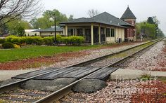 Grinnell Iowa - Train Depot Photograph