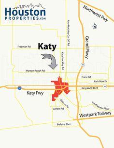 Katy TX Map