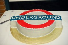 Cake Shaped Like London Underground Sign