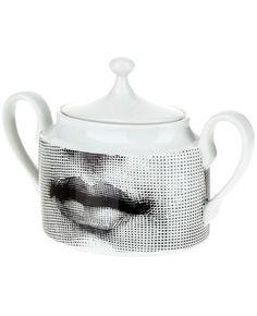 FORNASETTI Porcelain tea pot