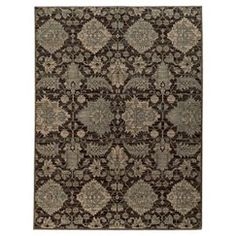 "Damask Heritage Area Rug - Grey (7'10""x10'10"")"