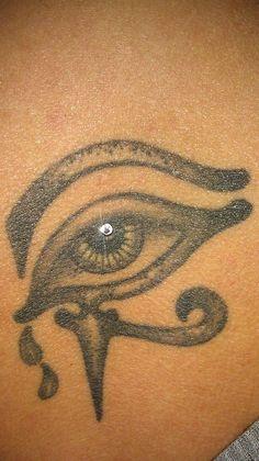 my fav back tattoo & dermal piercing! artwork by my sister!
