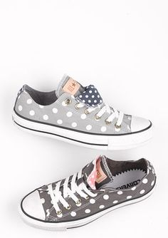 Polka dot Converse. cute.