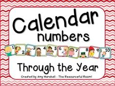 Calendar Numbers Through The Year  ---- if you are super quick you might get it for free....