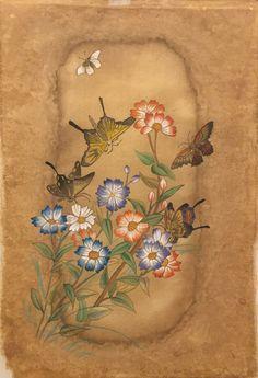 Illustration Art, Butterfly, Flowers, Painting, Painting Art, Paintings, Royal Icing Flowers, Painted Canvas, Butterflies