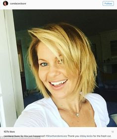 Fresh for fall: Candace Cameron Bure, 40, revealed a sassy bob 'do on her Instagram account Sunday