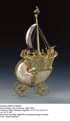 'Tiny people on a seashell chariot---Fantasy lives in both great spaces and small.'   JT.   Johann Melchior Dinglinger - Google Search