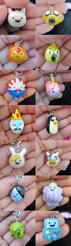 Amazeballs creation with clay! The charms are too cute, I love them all! Choose Your Characters Adventure Time Charm by egyptianruin