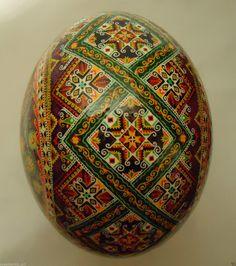Ukrainian Pysanka by Oleh K Ostrich Easter Egg Pysanky   eBay