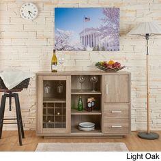 Details About Modern Wine Bar Buffet Cabinet Rack Bottle Storage Dining Room Furniture Home