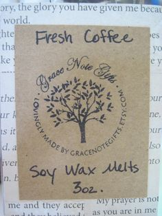 Soy Wax Tarts FRESH COFFEE Scented Soy Wax Melts by gracenotegifts, $3.50
