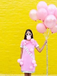 Bubblegum halloween costume. Get this and more creative halloween costume ideas here.