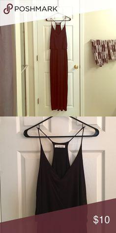 Long, black, never worn maxi dress! Never worn spaghetti strap maxi-dress Stella Luce Dresses Maxi