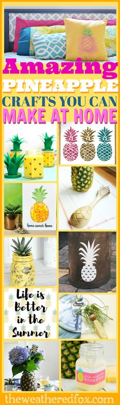 Pretty Pineapple Tablescape with a FREE Printable Menu, Tons of Pineapple Ideas that you can try at home!