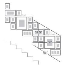 Related image Stairway Pictures, Stairway Gallery Wall, Organisation Des Photos, Organization, Picture Frame Arrangements, Staircase Wall Decor, Stairwell Wall, Photo Wall Collage, Picture Collages