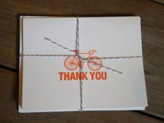 Thank You CardsBicycle Thank You CardsBlank by LemonDropsandLilacs, $9.00