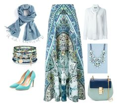 """""""Hijab"""" by amna15 ❤ liked on Polyvore featuring Etro, Moschino, Boohoo, Accessorize, Rupert Sanderson, Chloé, women's clothing, women, female and woman"""
