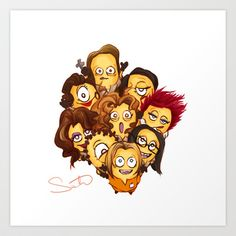 OITNB Art Print by dearchemistry ~ Orange is the New Black cast as Minions -- toO funny!