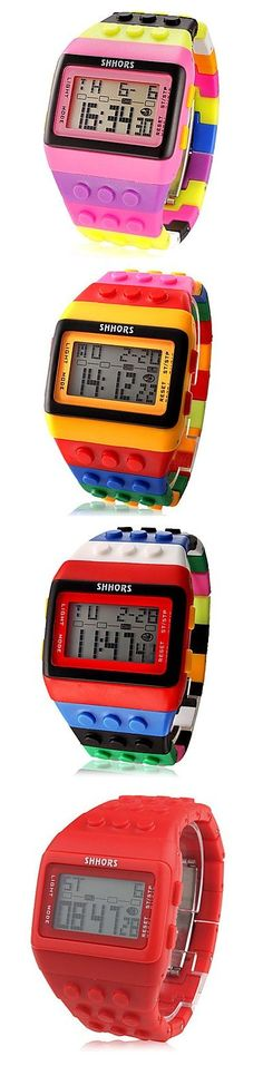 LED Watch Coloful Stripe Unisex New Sports Watches Shhors Rainbow watch Digital Hour Wristwatch>>click the image to find more pins @buycoolprice