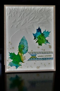 FF17UnderstandBlueA F4A399 Alcohol Leaves by asweetjewel - Cards and Paper Crafts at Splitcoaststampers