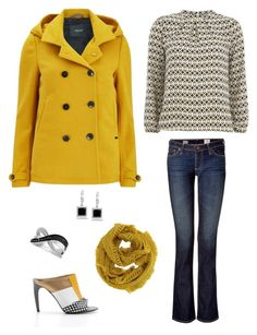 """""""SF: Kickin yellow"""" by foreverstrawberrydr on Polyvore featuring mel, AG Adriano Goldschmied, Alberto Guardiani, Maison Scotch, LeVian and Kobelli"""