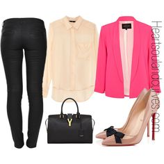 """""""Pretty In Pink"""" by adoremycurves on Polyvore"""