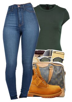 """""""Untitled #431"""" by queen-dope ❤ liked on Polyvore featuring Talulah and Timberland"""