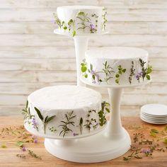Wilton 307-350 Three-Tier Pillar Cake Display Cake Stand Display, 3 Tier Cake Stand, Tiered Stand, Tiered Cake Stands, Cake Stand Decor, Dessert Stand, Dessert Table, Small Wedding Cakes, Floral Wedding Cakes
