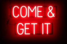 Attract more customers with a COME ON IN! Open sign that has the striking impact of neon, all the benefits of LEDs, and fully changeable letters.