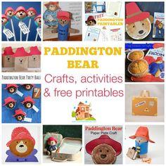 Paddington Bear crafts, activities & free printables